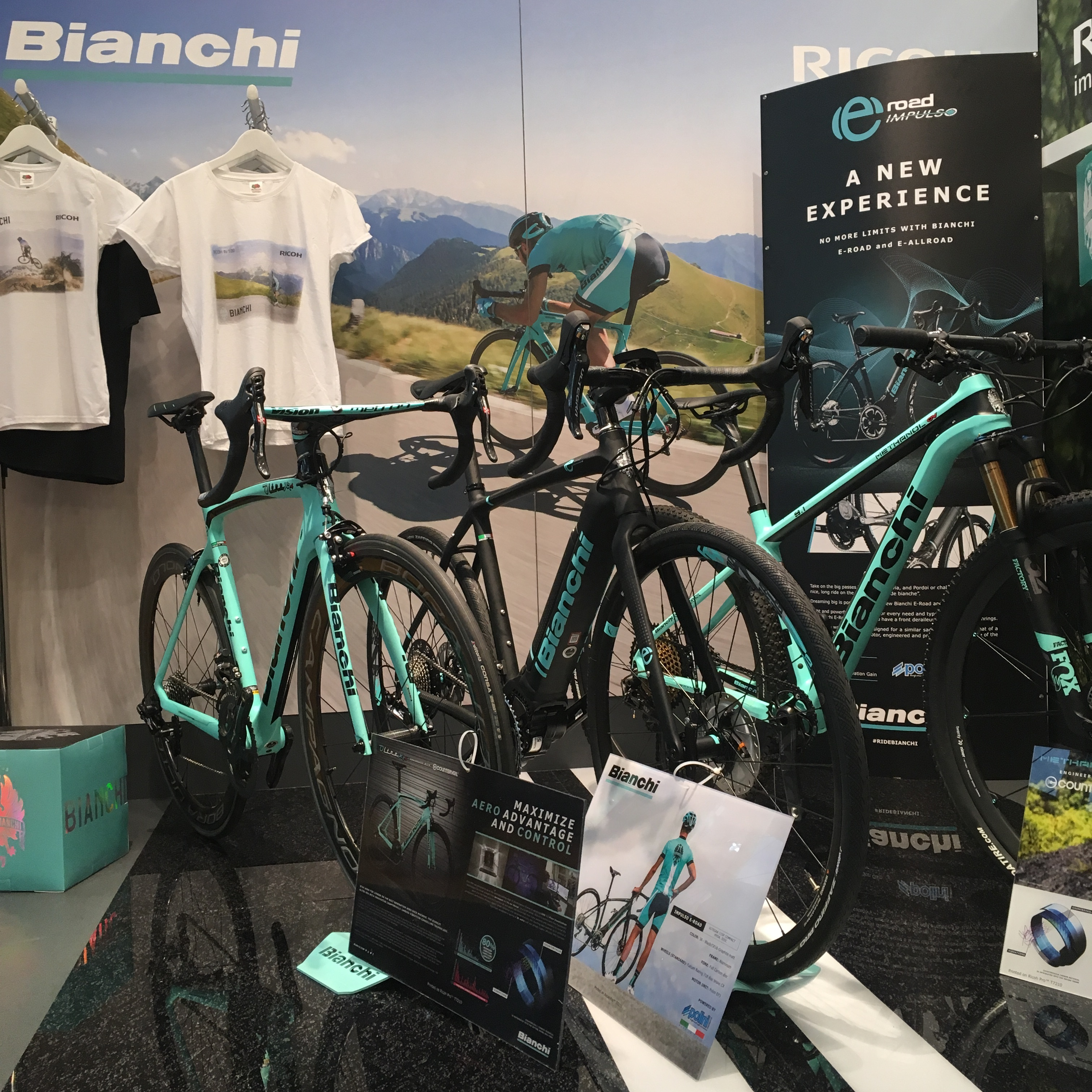 Ricoh's broad portfolio of solutions showcased The Power of Colour and created Bianchi Corner